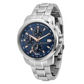 Maserati R8873645004 Solar Men's Watch Chronograph Successo Steel/Blue