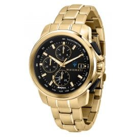 Maserati R8873645002 Solar Men's Watch Chronograph Successo Gold Tone/Black