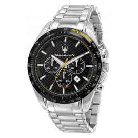Maserati R8873612042 Men's Wristwatch Chronograph Traguardo Steel/Black