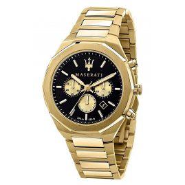 Maserati R8873642001 Herrenuhr Chronograph Stile Goldfarben/Schwarz