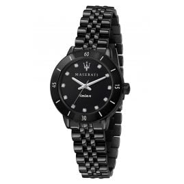 Maserati R8853145501 Ladies' Watch Successo Solar Ceramic Black