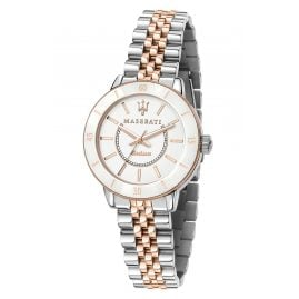 Maserati R8853145504 Women's Watch Successo Solar Ceramic Two-Colour
