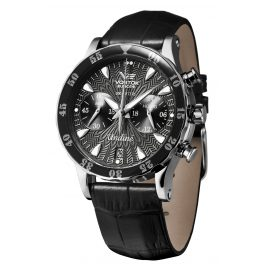 Vostok Europe VK64-515A523 Ladies Chronograph with 3 Straps Black