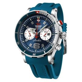 Vostok Europe 6S21-510A583 Anchar Chronograph Men's Watch Blue with Two Straps