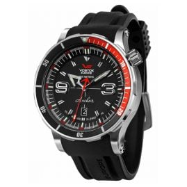 Vostok Europe NH35A-510A587 Anchar Men's Automatic Watch Black with Two Straps