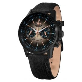 Vostok Europe VK64-560C601 GAZ 14 Chronograph Men's Watch Black/Brown