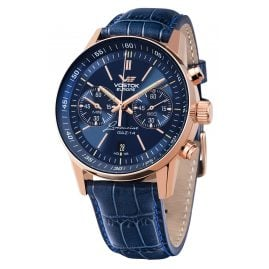 Vostok Europe 6S21-565B596 GAZ-14 Limousine Grand Chrono Quartz Men's Watch Blue