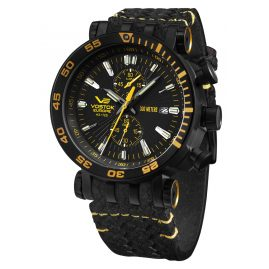 Vostok Europe VK61-575C589 Men's Watch Chronograph Energia Rocket Black/Yellow