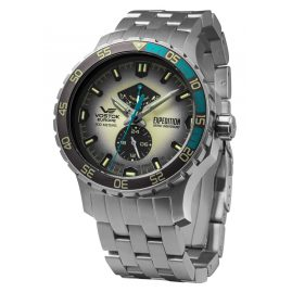 Vostok Europe YN84-597A544B Herrenuhr Expedition Everest Underground Stahl/Hellgrau