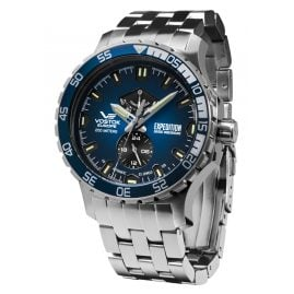 Vostok Europe YN84-597A545B Men's Watch Expedition Everest Underground Steel/Blue