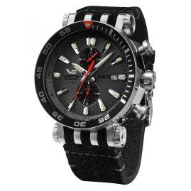 Vostok Europe VK61-575A588 Men's Watch Chronograph Energia Rocket Black/Anthracite