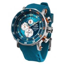 Vostok Europe YM86-620A636-BLAU Herren-Uhr Multifunktion Lunokhod 2 Blau