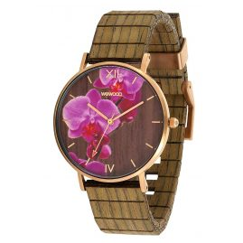 WeWood WW48001 Damenuhr Aurora Flower Nut