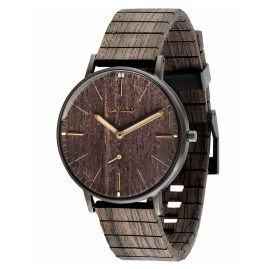 WeWood WW63002 Wooden Wrist Watch Albacore Gun Black Oak