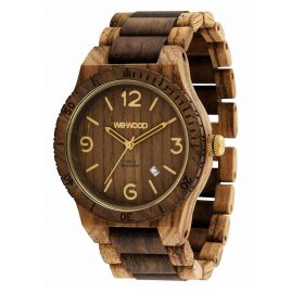 WeWood WW08011 Herren-Uhr Alpha SW Zebrano Choco Rough