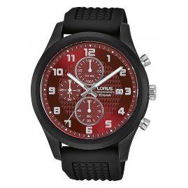Lorus RM391GX9 Herrenuhr Chronograph Schwarz/Rot