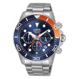 Lorus RT345JX9 Herren-Armbanduhr Blau/Orange