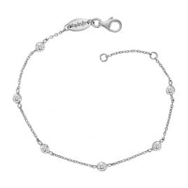 Engelsrufer ERF-LILMOON-ZI Silver Anklet Moonlight with Cubic Zirconia