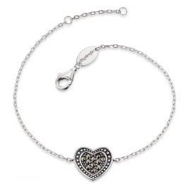 Engelsrufer ERB-HEART-MA Damen-Armband Herz Markasit