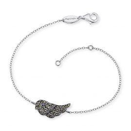Engelsrufer ERB-LILWING-MA Damen-Armband Flügel mit Markasit