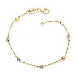Engelsrufer ERB-LILMOON-ZIM-G Bracelet Moonlight Gold-Plated Multi-Coloured