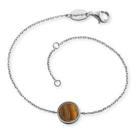 Engelsrufer ERB-LILGEM-TE Silver Ladies' Bracelet Powerful Stone Tiger's Eye