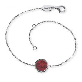 Engelsrufer ERB-LILGEM-RJ Women's Bracelet Silver Powerful Stone Red Jasper