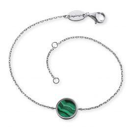 Engelsrufer ERB-LILGEM-ML Damen-Armband Silber Kraftstein Malachit