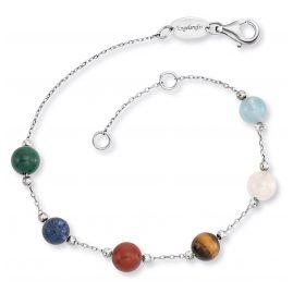 Engelsrufer ERB-LILGEM-6ST Silver Women's Bracelet with 6 Powerful Stones
