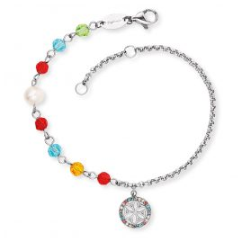 Engelsrufer ERBS-LILLIFL-ZIM Ladies' Bracelet Boho Flower of Life coloured
