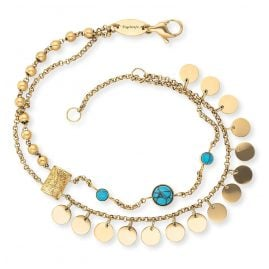 Engelsrufer ERBS-TREE-ZI-G Bracelet for Ladies Boho Tree of Life gold tone