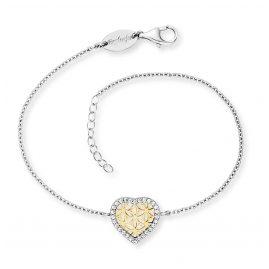 Engelsrufer ERB-HEARTLIFL-ZI-BIG Silberarmband für Damen Herz mit Lebensblume