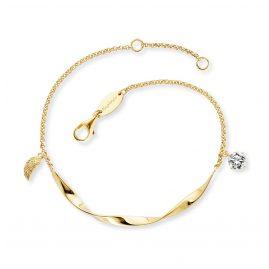 Engelsrufer ERB-TWIST-WING-ZI-G Damen-Armband Silber vergoldet