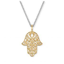 Engelsrufer ERN-LILHAND-G Damen-Halskette Hand der Fatima Goldfarben