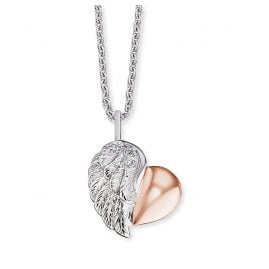 Engelsrufer ERN-LILHEARTWING-BI Ladies´ Necklace Heartwing Two-Tone
