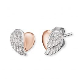 Engelsrufer ERE-LILHEARTWING-BI Ladies´ Earrings Heartwing Two-Tone