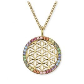 Engelsrufer ERN-LILLIFL-ZIM-G Ladies´ Necklace Flower of Life Gold-Plated