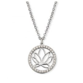 Engelsrufer ERN-LOTUS-ZI Silver Ladies´ Necklace Lotus