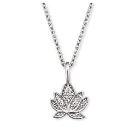 Engelsrufer ERN-LILLOTUS-ZI Silver Ladies' Necklace Lotus