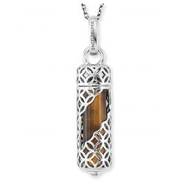 Engelsrufer ERN-HEAL-TE-M Ladies' Necklace Silver Powerful Stone Tiger's Eye M