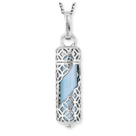 Engelsrufer ERN-HEAL-BA-M Ladies Necklace Silver Powerful Stone Blue Agate M