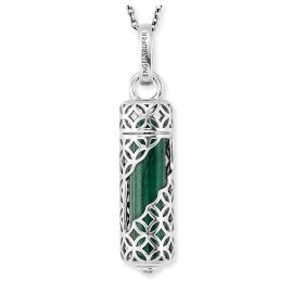 Engelsrufer ERN-HEAL-ML-M Women's Necklace Silver Powerful Stone Malachite M