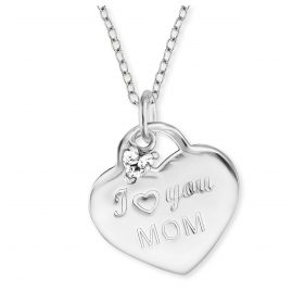 Engelsrufer ERN-LOVEMOM-ZI Silver Heart Pendant Ladies' Necklace