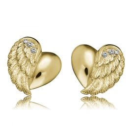 Engelsrufer ERE-LILHEARTWING-STG Stud Earrings Heartwing