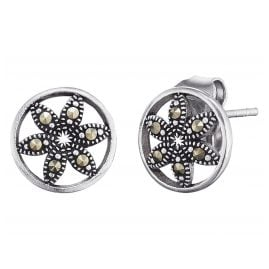 Engelsrufer ERE-LIFL-MA-ST Earrings Flower of Life Marcasite
