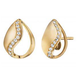 Engelsrufer ERE-TEAR-ZI-STG Stud Earrings Tear of Heaven Gold Plated