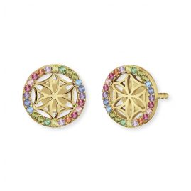 Engelsrufer ERE-LILLIFL-ZIM-STG Earrings Flower of Life Gold-Plated Multi-Coloured