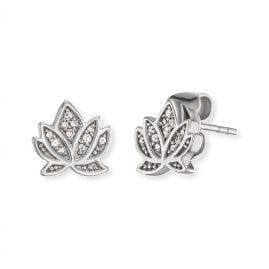Engelsrufer ERE-LILLOTUS-ZI-ST Ladies´ Stud Earrings Lotus with Cubic Zirconia