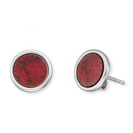Engelsrufer ERE-RJ-ST Ladies' Stud Earrings Silver Powerful Stone Red Jasper