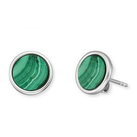 Engelsrufer ERE-ML-ST Ladies' Stud Earrings Silver Powerful Stone Malachite